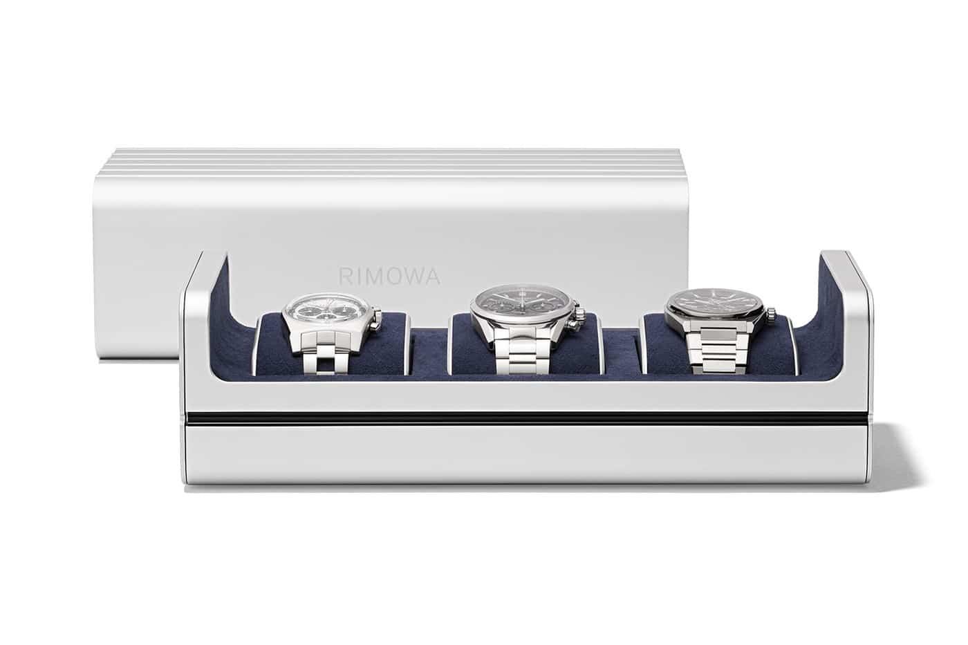 Luxe : Rimowa dévoile son nouveau coffret à rangement de montres haut de gamme